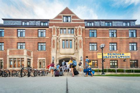 A picture of the East Quad student dormitory